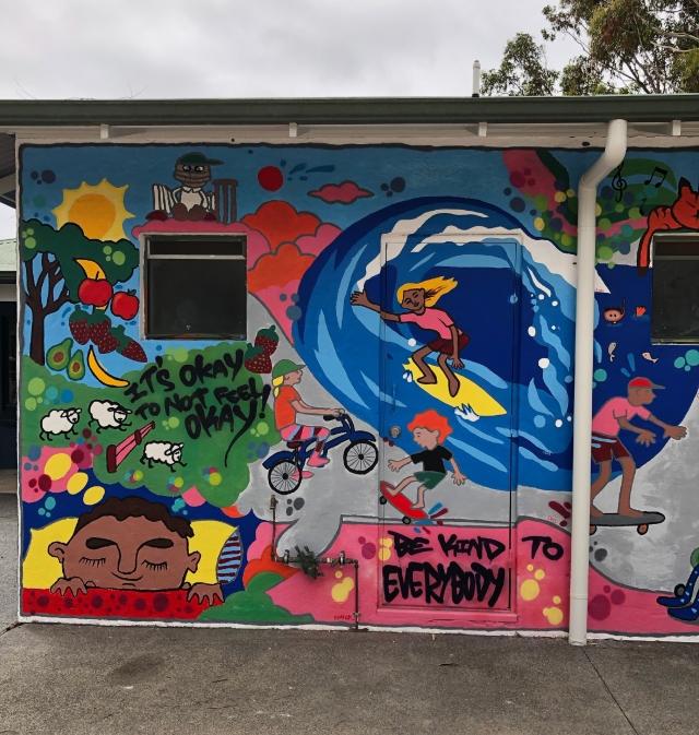 Graffiti wall at Margaret River Skate Park
