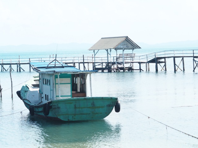 Local harbour on the Kampong Walk