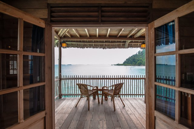 Balcony at Telunas Beach Resort, Indonesia (Image courtesy of Telunas Beach Resort)