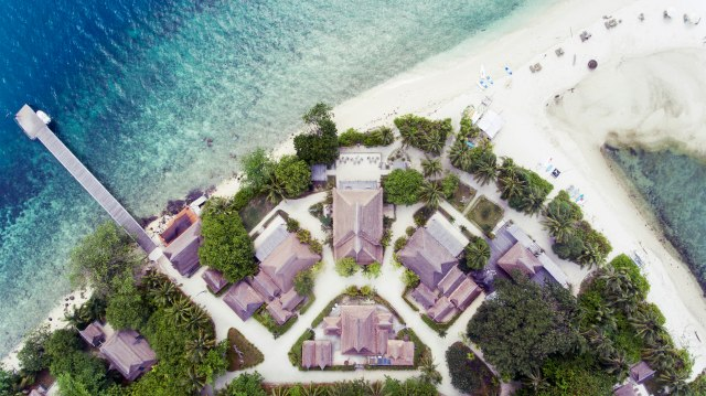 Aerial view of Nikoi, Indonesia. (Image courtesy of Nikoi Island)