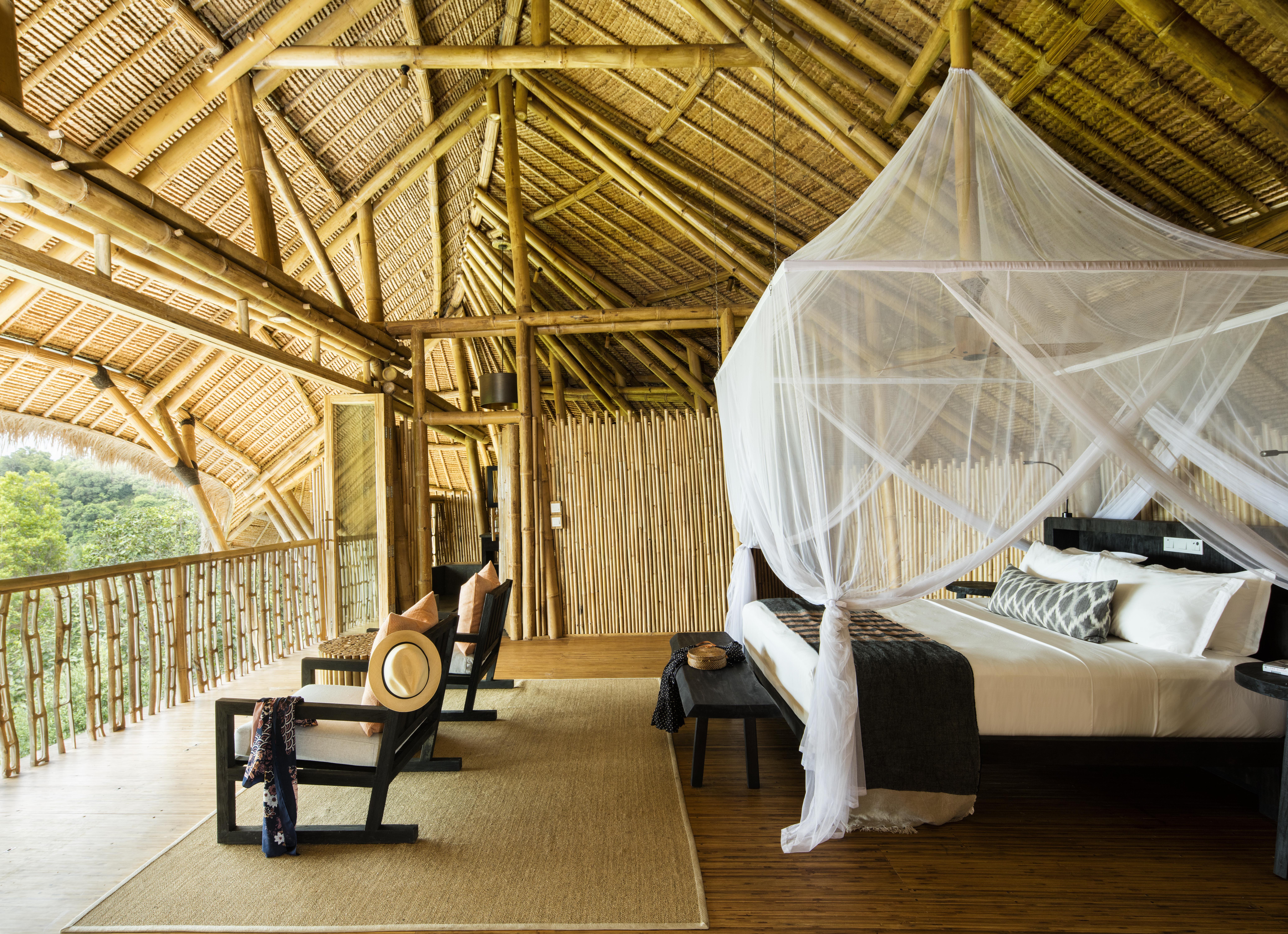 Stunning bedroom at Chempadek Island (image courtesy of Chempadek Island)