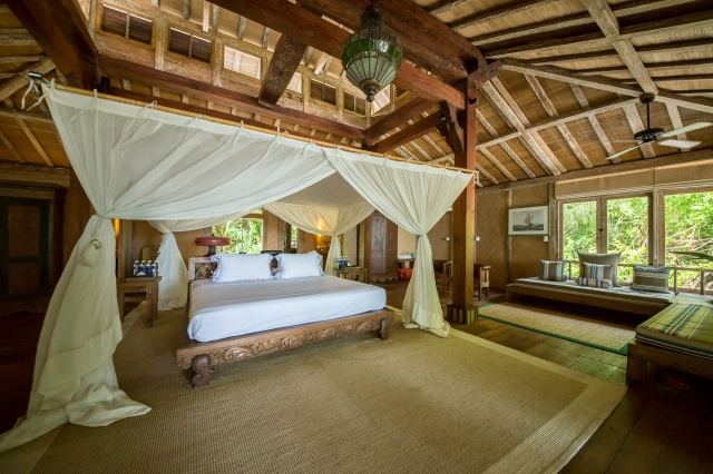 Sumptuous bedroom at Joyo Island, Indonesia (Image courtesy of Joyo Island)