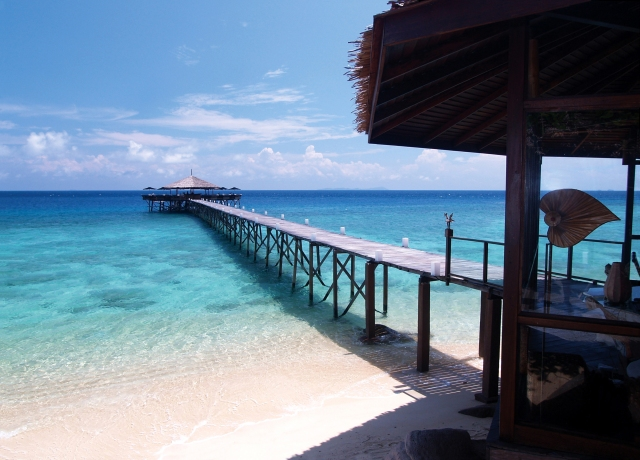 Welcome jetty at Japamala Resort, Tioman, Malaysia (Image courtesy of Japamala Resort)