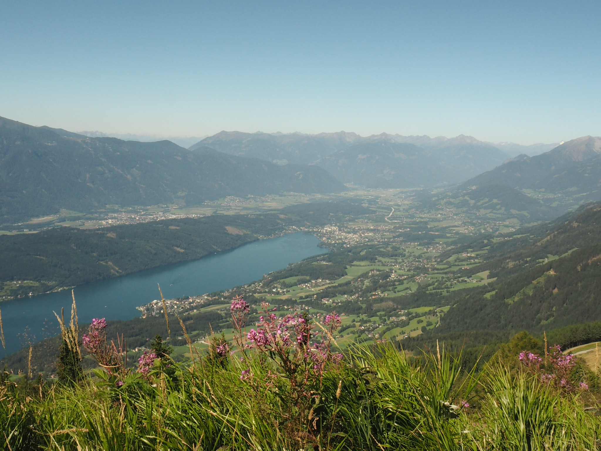 View over Millstatt and Seeboden