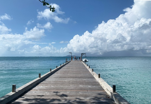 The welcome jetty, Nikoi Island, Indonesia
