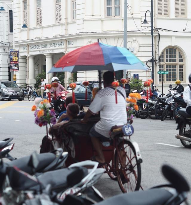 Trishaw Ride Around George Town, Penang