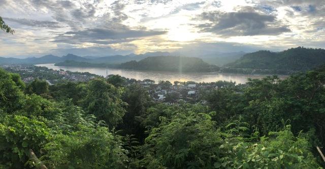 Sunset from Phousi Mountain